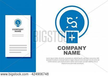 Blue Stop Smoking, Money Saving Icon Isolated On White Background. Quit Smoking To Save Money. Logo