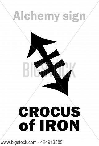 Alchemy Alphabet: Crocus Of Iron (crocus Martis), Also: Colcothar, Colchicum, Lapis Haematites, Figu