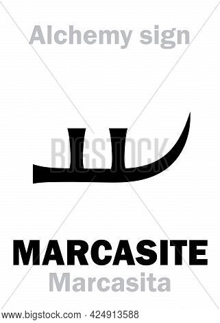 Alchemy Alphabet: Marcasite (marcasita), Radiant Chalcedonius, Spearlike Chalcedony; Eq.: Calcedoine