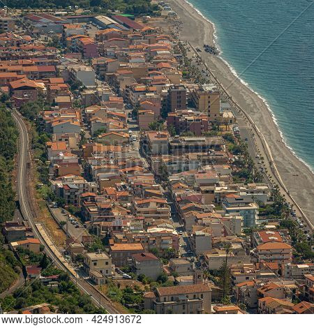 View Of The Top Of A Typical Sicilian Seafaring Town