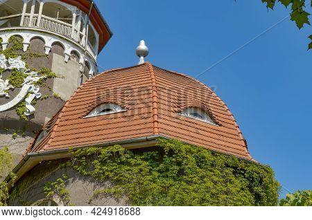 Svetlogorsk, Kaliningrad Oblast, Russia. June - 2. Balneary Building With Water Tower. Building Roof