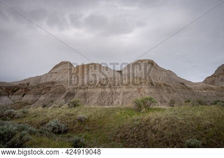 Dinosaur Provincial Park In Alberta, Canada, A Unesco World Heritage Site Noted For Its Striking Bad