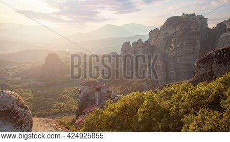 Meteora, Kalabaka Greece. Meteora A Greek Beautiful Travel Destination