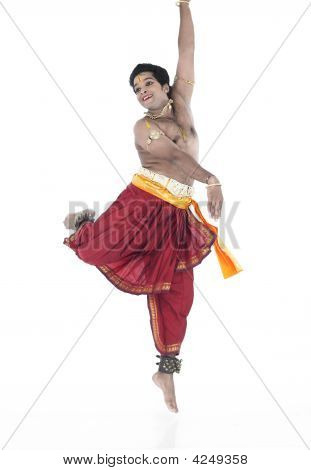 Male Bharathanatyam Dancer From India