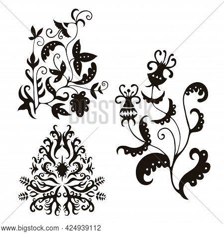 Elegance Floral Vintage Elements For Design And Decor