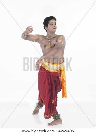 classical from india male Bharathanatyam dancer of Tamil nadu in South India poster