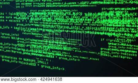 Programming Code Through The Computer Screen Terminal, Computer Generated
