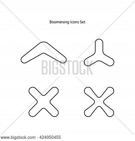 Boomerang Icon Isolated On White Background. Australian Boomerang Icon Trendy And Modern Australian