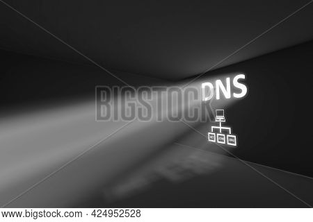 Dns Rays Volume Light Concept 3d Illustration