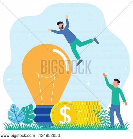 Flat Style Vector Illustration, Breakout Idea, Unreachable Thinking, Looking For New Solutions, Crea