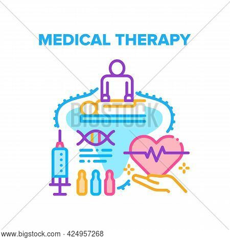 Medical Therapy Vector Icon Concept. Medical Therapy And Vaccination For Health Care And Disease Tre