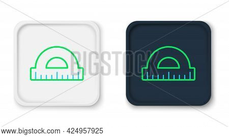 Line Protractor Grid For Measuring Degrees Icon Isolated On White Background. Tilt Angle Meter. Meas