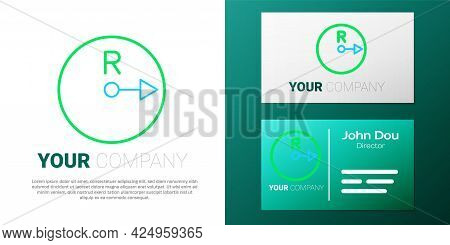 Line Radius Icon Isolated On White Background. Colorful Outline Concept. Vector
