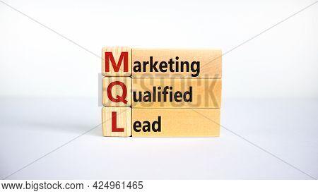 Mql Marketing Qualified Lead Symbol. Wooden Blocks With Words 'mql Marketing Qualified Lead'. Beauti