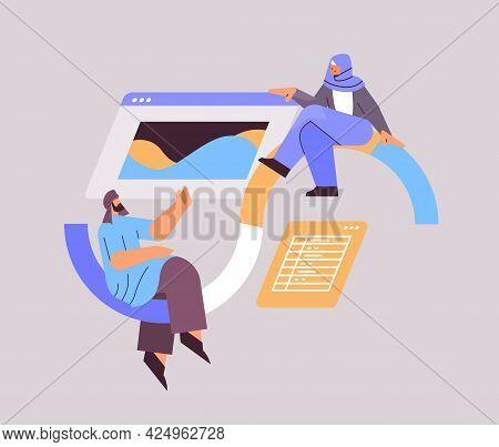 Arab Developers Creating Website Ui Interface Web Application Development Program Software Optimizat