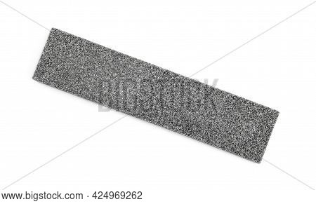 Sharpening Stone For Knife Isolated On White, Top View