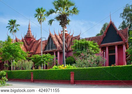 Phnom Penh, Cambodia - July 16 2006: The National Museum Of Cambodia Is Cambodia's Largest Museum Of