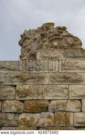 Part Of The Great Fortress Wall, Built In The V-vi Century Nesebar Resort, Bulgaraia