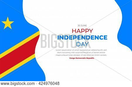 Happy Independence Day Of Democratic Republic Of The Congo. Congo Democratic Republic Independence D