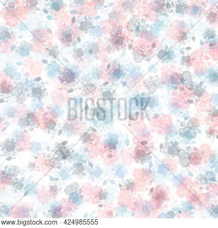 Abstract Watercolor Background, Hand-painted Textures With Paint, Circles, Spots, Splashes.