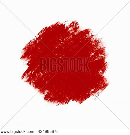 Abstract Blurred Red Spot, A Smear Of Oil Paint, Design Element Background.