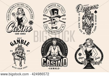 Gambling And Casino Vintage Designs With Roulette Wheel Roses Pretty Poker Ladies Gambler Skeleton A