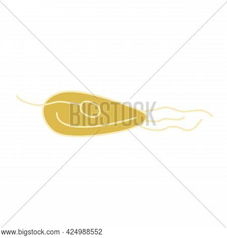 Sprouted Grain Of Wheat, Icon. Agriculture, Farm, Garden. Hand-drawn Vector, Flat Style. Organic Ele