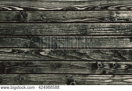 Wooden Background. Old Weathered Wood Surface With Grain And Texture. Natural Dark Wood Plank Backdr