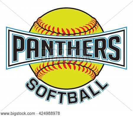 Panthers Softball Graphic Is A Sports Design Which Includes A Softball And Text And Is Perfect For Y