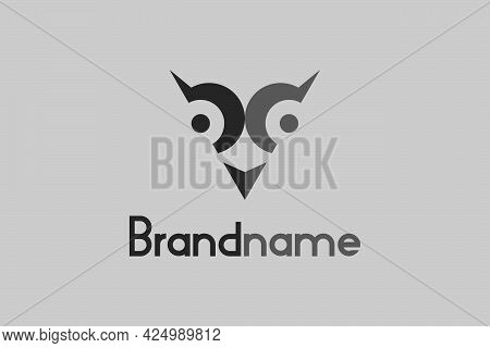 Owl Logo With Bd Letter Design Concept. Or The Letter Bd Logo With A Triangular Owl Design Concept.