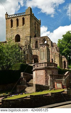 A View Of The Ruins Of The Medieval Abbey Complex At Jedburgh In The Scottish Borders.