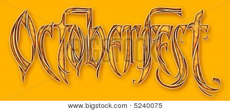 Octoberfest Logo Type With Clipping Path