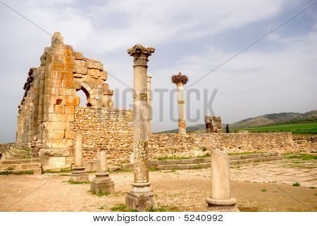 The Ancient Basilica, Volubilis, Morocco