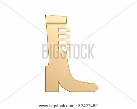 fashion boot symbol isolated on white background poster