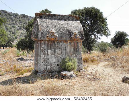 Preserved Roman sarcophag in Sura.