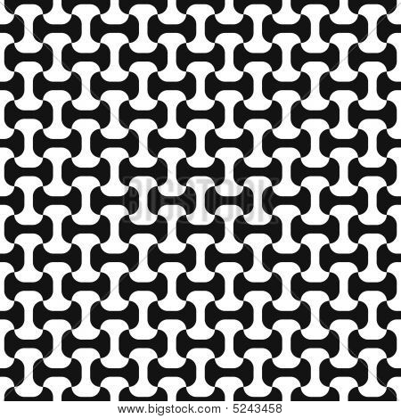 Black-and-white Seamless Pattern.