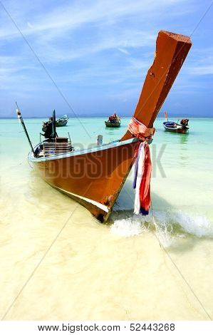 long boat in Andaman sea