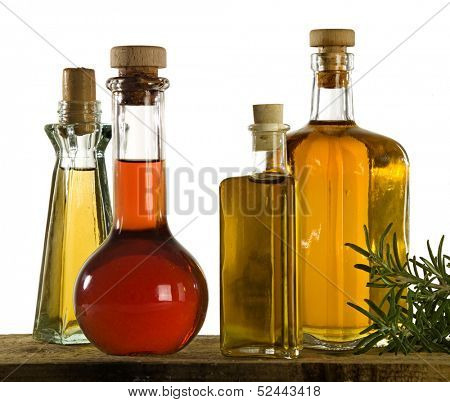 four different kind of oil