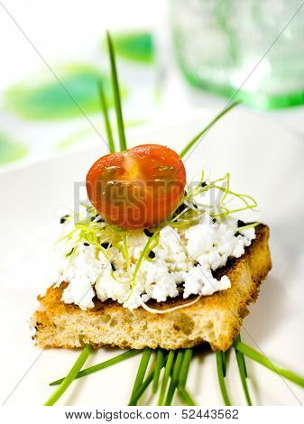 cottage cheese sandwich with vegetable
