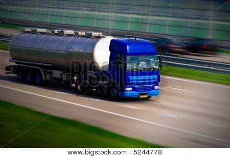 Tanker Truck On Motorway