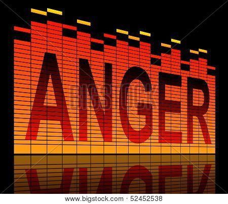 Illustration depicting graphic equalizer bars with an anger concept. poster