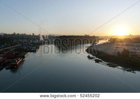 Sunrise On The Fraser River