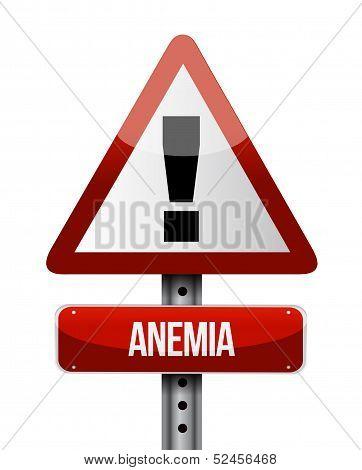 Anemia Road Sign Illustration Design