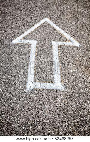 Arrow On Pavement
