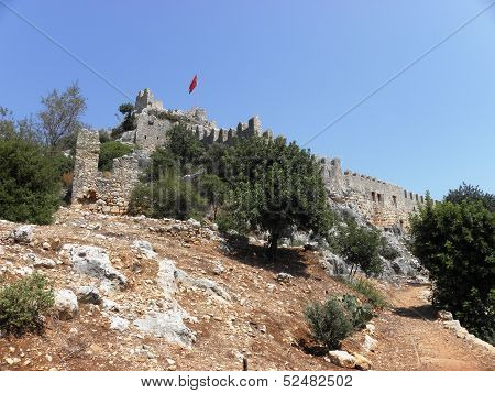 Medieval fortress of the ancient city of Simena.