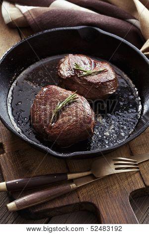 Beef Steak In Pan