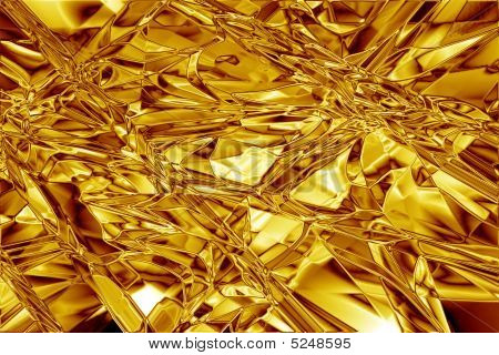 Gold Foil Abstract Crinkled Texture