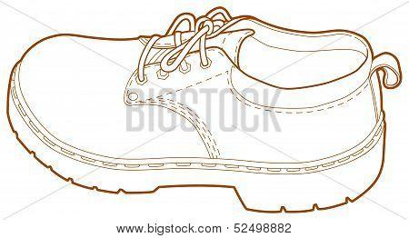 Man's Left Shoe