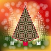 Peppermint Candy Christmas  trees diffused lighting  poster