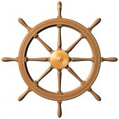 Isolated illustration of a traditional ships wheel poster